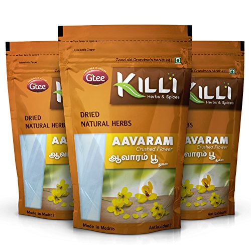 KILLI Avarampoo   Tarwar   Aavaram   Senna auriculata   Tangedu Flower Crushed, 100g (Pack of 3)