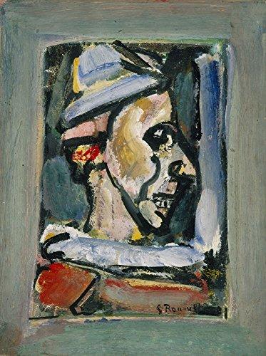 Das Museum Outlet–Georges Rouault–Profil einer Clown–Poster Print Online kaufen (101,6x 127cm)