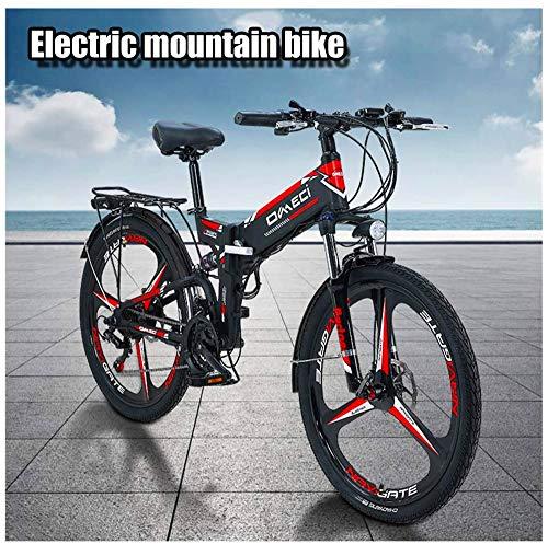 Bicicleta eléctrica Bicicleta eléctrica por la mon 300W Bici eléctrica for adulto Bici de montaña eléctrica 48V 10Ah Bicicleta eléctrica con batería de ión litio extraíble 21 Engranajes de velocidad B