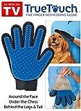Guante mágico con cepillo True Touch para perros y gatos y cardador, elimina el pelo y masajea
