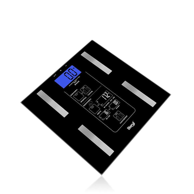 お勧め租界タワー体脂肪計、体重、脂肪、水、筋肉、BMI、黒用バックライト付きLCD付きデジタルバスルームスケール体組成計