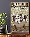 SIGNCHAT Boston Terrier Company Bath Soap Poster Geschenk