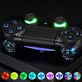 eXtremeRate PS4 Tasten Knöpfe Buttons D-Pad L1 R1 R2 L2 Trigger Thumbsticks DTFS LED Kit für Playstation 4 PS4 Controller CUH-ZCT2-Symbols Leuchttaste 10 Farben Modi 7 Bereiche(DTF 2.0)
