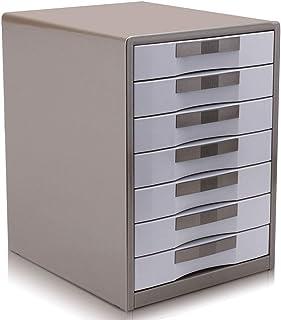 HongLianRiven Armoires de classement Meuble de Rangement en Plastique de Bureau à 7 tiroirs -30 * 35 * 41cm 12-30 (Color :...