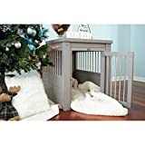 New Age Pet ecoFLEX Pet Crate/End Table, Small, Grey