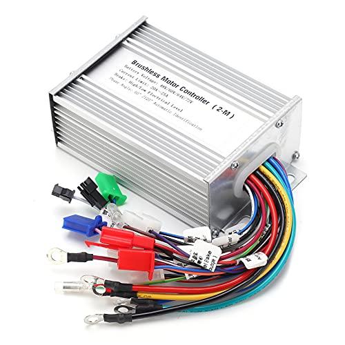 needlid Controlador De Motor De Velocidad Sin Escobillas, Controlador De Motor De 9 Tubos para V para Scooters Eléctricos(48V-72V)