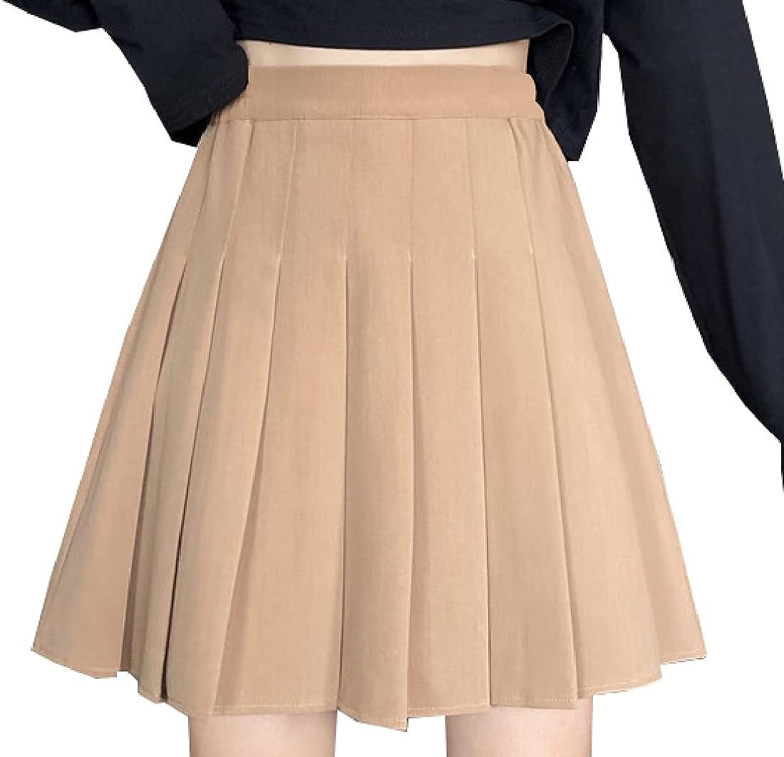 Cromoncent Girls Women's Plaid Pleated Skirt Skater School Uniform,2Years - 2XL