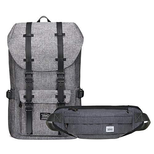 KAUKKO Rucksack Damen Herren 17 Zoll Backpack für 15