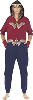 Womens Ladies Wonder Woman Drop Seat Union Suit Red/Blue (See More Sizes)
