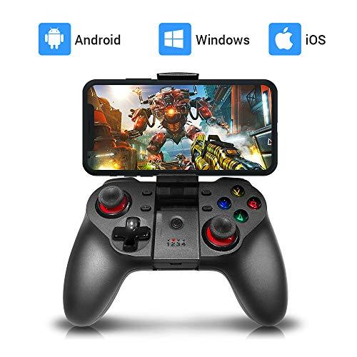 ZYLFN Mobile Dispositivo de Juego, Wireless Key Mapping Joystick Gamepad, Compatible para iOS iPhone Android Otro teléfono y Tablet PC