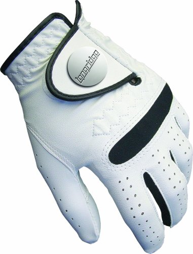 Longridge Damen Golf Handschuh All-Wetter, Weiß, L