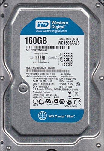 wd1600aajb-00j3a0, DCM Earnhtjahn, western Digital 160GB IDE 3.5hard drive