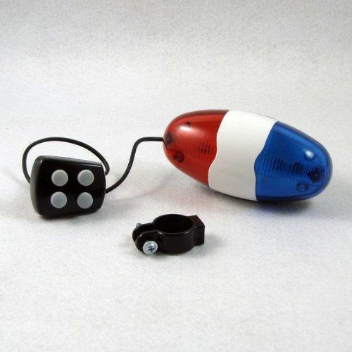 Blauw Rood Fiets 4 Tones Elektronische Licht Siren Beeper Hoorn Bell