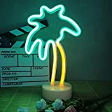 LED Coconut Palm Tree Neon Signs Neon Night Lights with Holder Base Dorm Decor Light Decor Light Marquee Signs Wall/Table Decor for Christmas Birthday Wedding Party Kids Room Living Room Decor