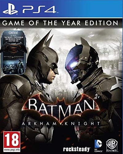 Warner Bros Batman: Arkham Knight, PS4 Game of the Year PlayStation 4 Inglés vídeo - Juego (PS4, PlayStation 4, Acción / Aventura, M (Maduro), Soporte físico)