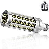Bombilla LED de 60 W, superbrillante, sin ventilador, (equivalente a 500 W) – Bombilla LED E27 con adaptador E40 –6000 K blanco frío 7,200 lúmenes para iluminación de zonas–Garaje taller–Luz de calle