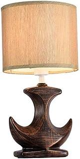 WYBFZTT-188 Créativité Céramique Tissu Abat Chambre Étude de Chevet Décoration Lampe de Table Bouton-Poussoir (Color : A)
