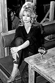 Brigitte Bardot 24x18 Poster with Cigarette and Drink On Set
