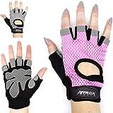 Netrox Fitness Handschuhe mit Handgelenkbandage Handgelenkstütze extra Grip und rutschfest für...