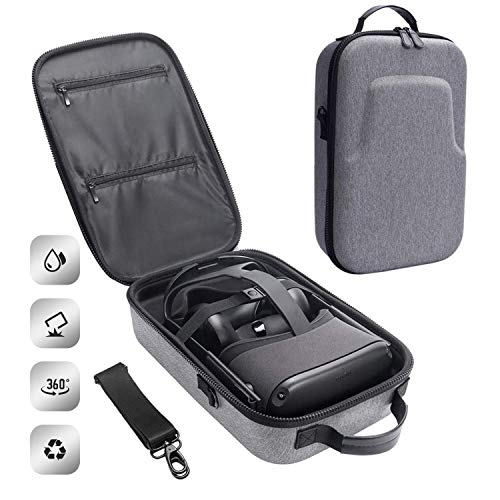 Spiido [2020 Upgrade] Hard Travel Case for Oculus Quest VR Gaming Headset and Controllers Accessories Waterproof Shockproof Carrying Case (Gray)