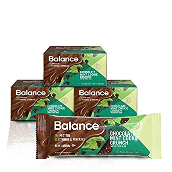 Balance Bar Healthy Protein Snacks Chocolate Mint Cookie Crunch With Vitamin A Vitamin C and Vitamin D to Support Immune Health 1.76 oz Pack of Three 6-Count Boxes