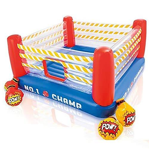 DING Ball Pool Marina Boxeo Anillo de Salto de trampolín Inflable Le Juegos de Cama elástica para niños y Adultos Niños