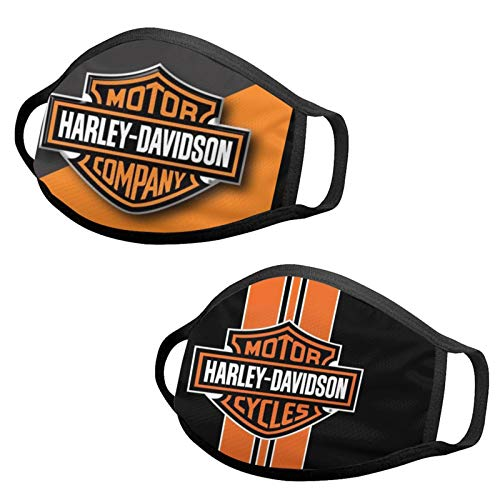 2Pcs Unisex Motorcycle Face Mask Adult Dust Washable Reusable Bandanas Balaclavas Neck Gaiter for Men Women