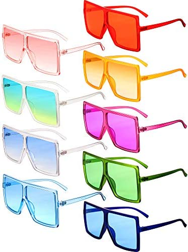 9 Pairs Oversized Square Sunglasses Flat Top Chic Big Shades Sunglasses for Women product image