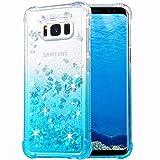 Flocute Galaxy S8 Plus Case, Galaxy S8 Plus Glitter Case Gradient Series Bling Sparkle Floating Liquid Soft TPU Cushion Luxury Fashion Girly Women Cute Case for Samsung Galaxy S8 Plus (Gradient Teal)