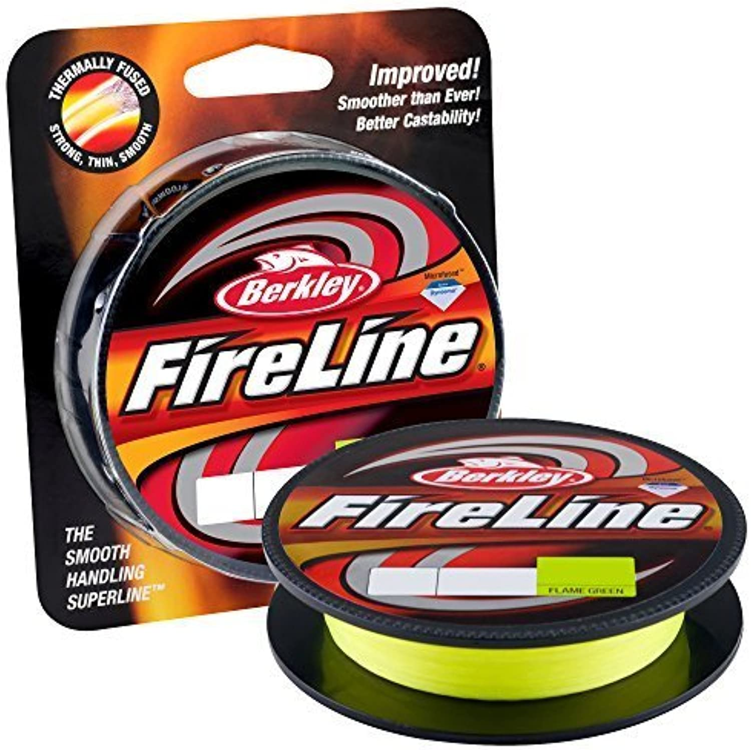 Berkley Fireline Fused Original Fishing Line, Flame Grün, 125 Yd. 20 lb. by Berkley B0155S08IU  Feinbearbeitung