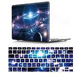 2en 1de la Reina diseño de Cool carcasa rígida de goma y silicona teclado cubierta para macbook air pro retina 1112131517 Galaxy Universe Starry Sky 15'Macbook Pro(With CD-ROM A1286)