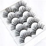 False Eyelashes, SKONHED 5 Pairs Beauty Woman' Fashion Eye Makeup Cruelty-free False Eyelashes Wispies Long Fluffy Natural lashes Eye Lash Extension(6D-05)