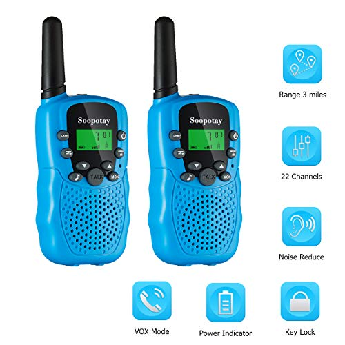 Upgraded Boys Walkie Talkies for Kids 2 Pack, Long Distance Kids Walkie Talkie Toys, Kids Two-Way Radios for 3-12 Years Old
