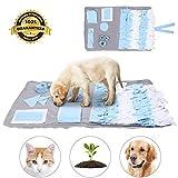 Sunshine smile Hund schnüffelteppich intelligenzspielzeug,Schnüffelrasen Hundespielzeug Fördert Natürliche Nahrungssuche,Hund riechen trainieren,schnüffeldecke (Blau)