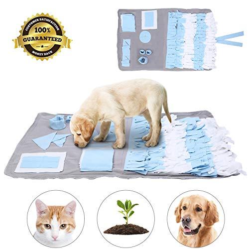 Dog Snuffle Mat,Cani Feeding Mat,Tappetino per Animali Domestici per Foraggiamento abilità,Tappetino per addestramento Cani per Giochi interattivi,Dog Pet Sniffing Pad (Blu)