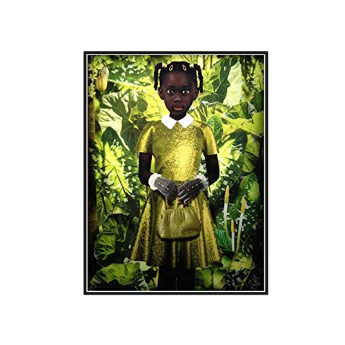 dubdubd Ruud Van Empel Art Works Standing in Green Yellow Dres Art Posters Painting Print Living Room Home Decoration -20X28 Inch No Frame 1 Pcs