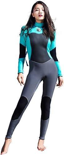 JASZHAO Néoprène Wetsuit Femmes Plein 1.5 mm Surf plongée Snorkeling Maillot de Bain Combinaison Noir Humide Costume Dos Fermeture éclair Wetsuits Long