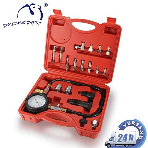 DROMEDARY 20tlg Benzin Zylinder Meßgerät Tester Kompressionstester Kompressionsprüfer PKW LKW Pumpen Druck Prüfvorrichtung Werkzeuge