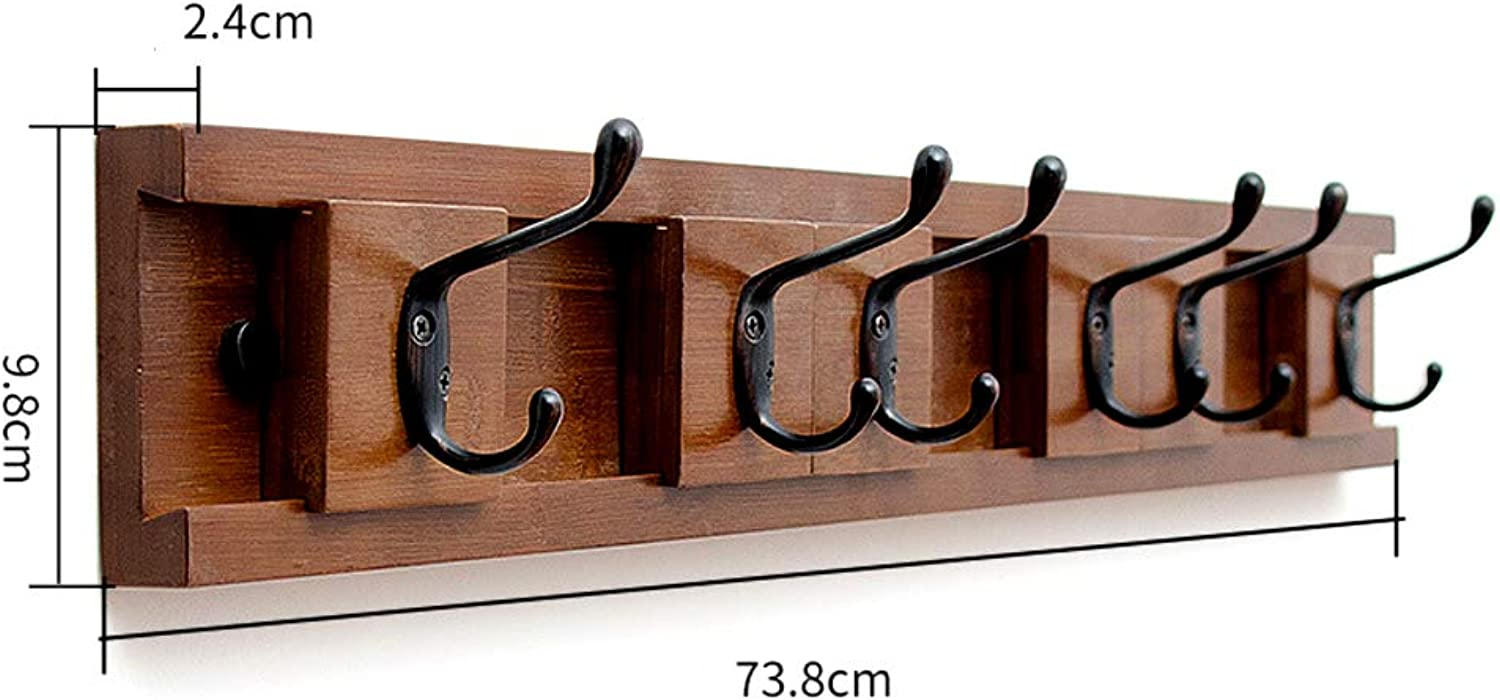 Coat Rack Wall Mounted,Modern Coat Hook,Move Left and Right Sleek Space-Saving Coat Hanger for Coats Scarfs Purses-P 73.8x2.4x9.8cm(29x1x4inch)