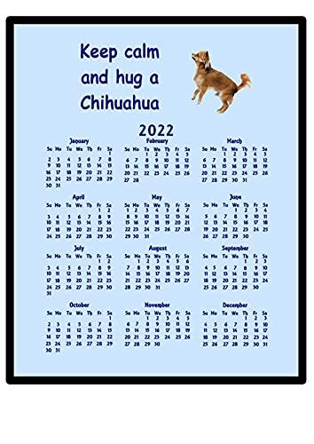 Chihuahua – 2016 Calendrier Tapis de souris (Keep Calm)