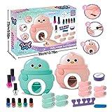 Glitter, Kinder Nail Art Kit Pretend Play Spielzeug Set Nagel Stamper Set Perfektes Geschenk für Mädchen Glitter