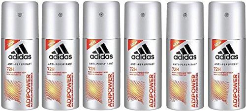 adidas adipower Deo Bodyspray für Herren – Deodorant ohne Alkohol für 72h effektiven Deo-Schutz – pH-hautfreundlich – 6 x 35 ml