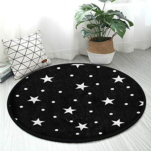 High order ALAZA Star Polka Dot Round Area Slip Carpe Non Rug Mat Floor Max 64% OFF