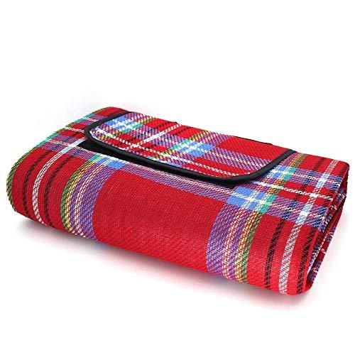 LHY- Mat Pique-Nique Beach Mat Beach Blanket Portable Outdoor Mat Pique-Nique 150 × 200 cm Résiste à l'humidité (Color : Red)