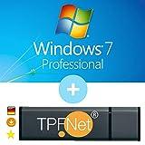 MS Windows 7 Pro 32 bit & 64 bit - Original Lizenzschlüssel mit bootfähigen USB Stick von - TPFNet®