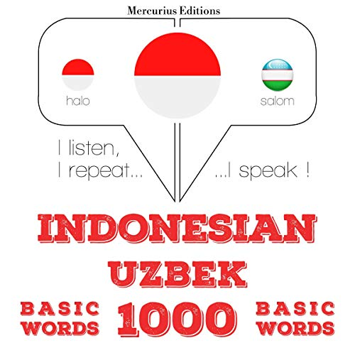 Indonesian – Uzbek. 1000 basic words  By  cover art