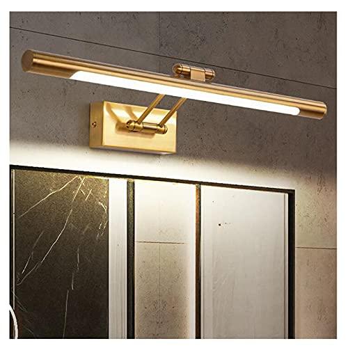 ZXQ Espejo Frontal luz led Espejo Faros, lámpara de Pared Anti-Niebla de Pared de luz de baño Espejo luz lámpara de Maquillaje, 3 Colores Regulable(68cm, 3 Colors Light)