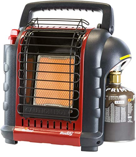 Mr. Heater Portable Buddy gasverwarming incl. adapter voor gaspatronen met 7/16 schroefdraad, tot 2,4 kW vermogen, outdoor-/campingverwarming