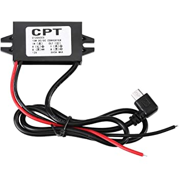 Rouku Car Vehicles CPT UL5 Universal DC DC Converter Module 12V To 5V 3A 15W With Double USB Output Power Adapter