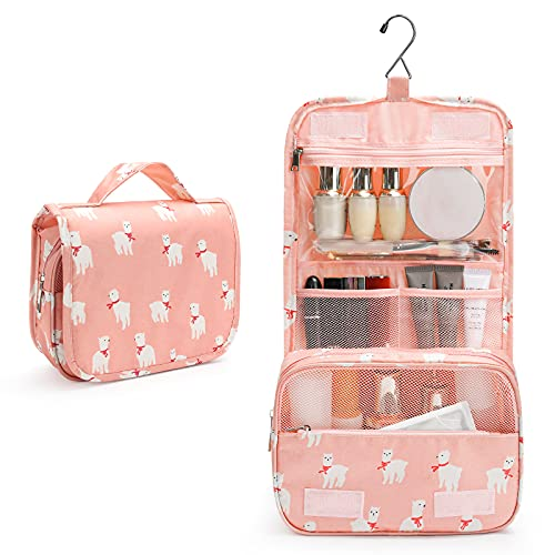 Toiletry Bag, Travel Toiletries Bags, Women Travel Makeup Organizer with Large Capacity, Waterproof Shower bag with Haning Hook, Multifunction Travel Bag for Toiletries